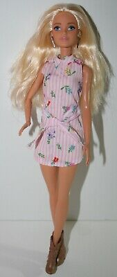 Barbie Doll Platinum Blonde, Blue Eyes, in Shirt Dress and Ankle Cowboy Boots