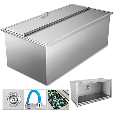 92 X 46 X 36 CM Drop In Ice Chest Bin Patio Beer Beverage Condiments Cooler