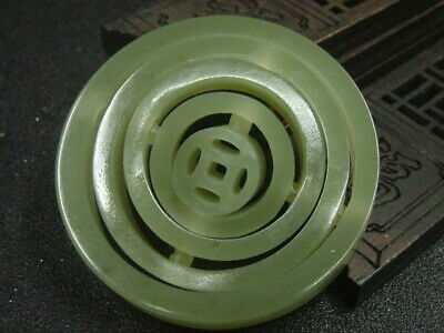 Chinese Antique Celadon Nephrite Hetian-Jade Safety Statues/Pendant 796