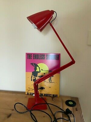 Industrial Retro Vintage 60s Planet style Table Lamp RED