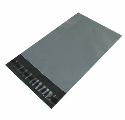 """10"""" x 14"""" STRONG GREY MAILING BAGS POSTAGE MAIL BARGAIN 2"""" LIP"""