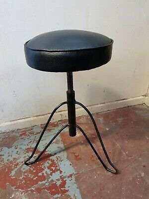 Vintage Round Height Adjustable Stool Piano Stool FREE MANCHESTER DELIVERY
