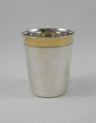 RAR Solid Large Drinking Cup in 830er Silver from David Andersen, Norway