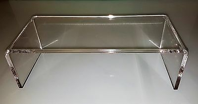 Display Plinth Retail Display Stand Monitor Stand Riser Clear Perspex Imac Stand