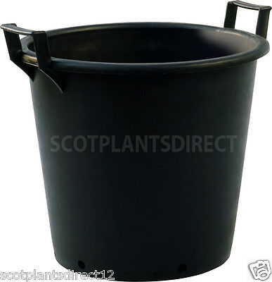 25x BIG POTS 15 Litre Heavy Duty Plant Pots Black Drainage Holes Tough e411
