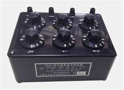 ZX21 Precision Variable Decade Resistor Resistance Box 0.1R To 99.9999KR rr