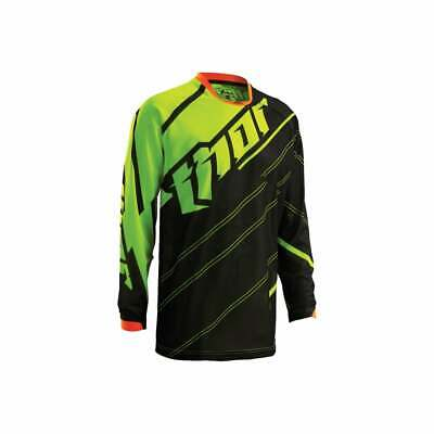Thor vented Phase Jersey MX offroad Enduro Motocross Dirtbike  Black/Flo Green