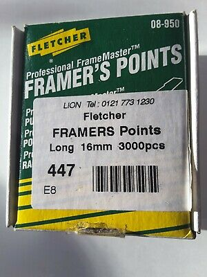 Fletcher Framers Points  Long 16Mm 3000Pcs
