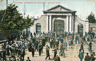 Carte ANGLETERRE PORTSMOUTH Southsea Entrance to Dockyard Unicorn Gate