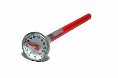 Darkroom Chemical Dial Thermometer 25mm Stainless Steel for Film Processing