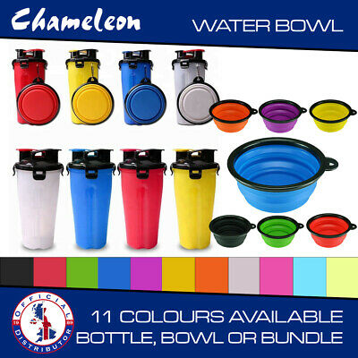 Collapsible Bowl and Portable Dual Chamber Bottle Pet dog Outdoor Water food