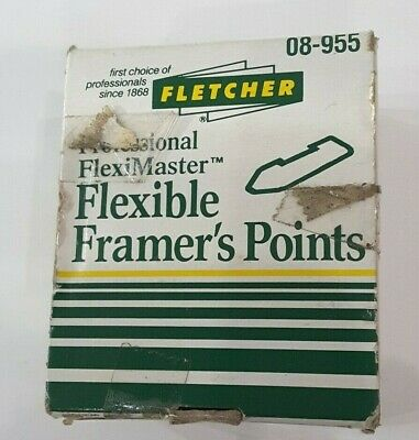 Fletcher Framers F-T Flexible Points  Black 3,700 Pcs 3061