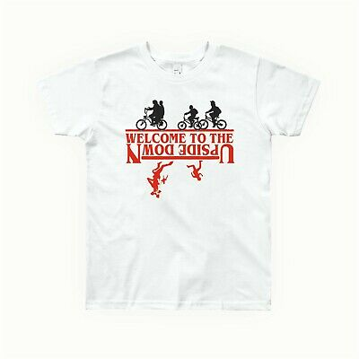 tdf004 stranger welcome to the upside down things white tshirt