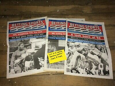 """Lot of 3 """"Betting Sports"""" Magazine Newspapers VTG Gambling Tips 1983 & 1984"""