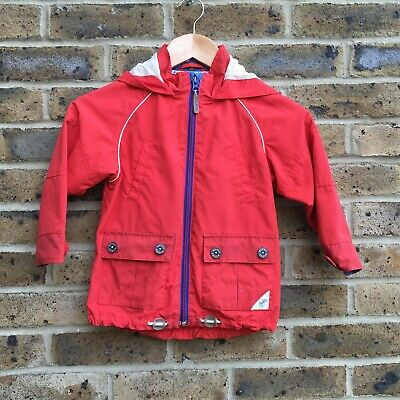 TED BAKER Red Hooded Coat Boys Age 5 Years Junior Childs Kids Lightweight Casual