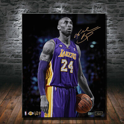 kobe bryant art canvas Gallery Art Canvas HD Print Poster Oil Painting 24x30inch