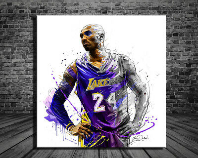 Kobe Bryant Art Canvas-2 Gallery Art Canvas HD Print Poster Oil Painting 24x32
