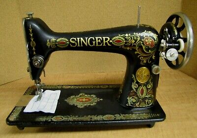 Working 1911 SINGER TREADLE SEWING MACHINE MODEL 66.