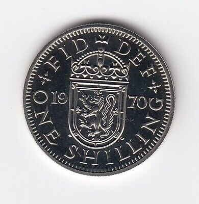 1970 SCOTTISH ONE SHILLING Proof Condition From a Royal Mint Set  (1676)
