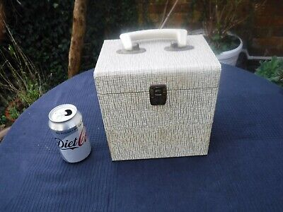 """Vintage Winel Style Case Holds 50 x  7"""" Records Includes Index Card"""