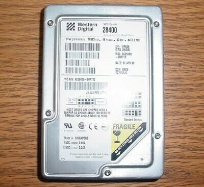 "Lot of 8 Western Digital WD Caviar 28400 8.4GB 3.5"" Internal Hard Drives AC28400"