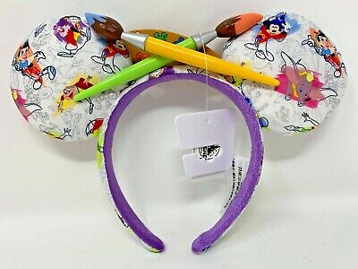 Disney Parks Ink & and Paint Minnie Mouse Ears Headband Dumbo Mr. Toad Mickey