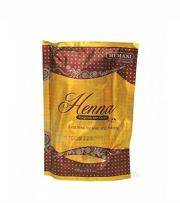 **SALE** Burgundy with Oudh by Hemani Henna Natural Hair Dye Mendi