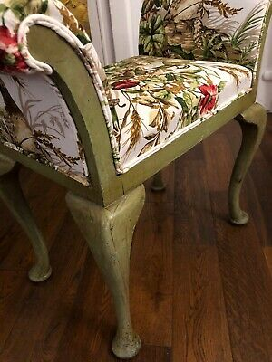 Victorian Piano Stool Modern Paint And Professional Reupholstery Cabriolet Legs.