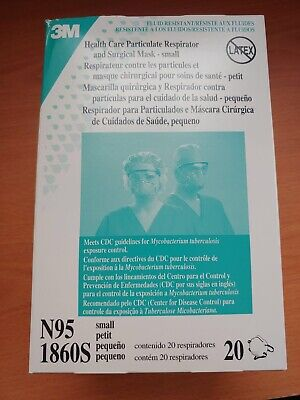 3M N95 1860S Health Care Respirator And Surgical Mask 20/PC Box  (Small Size)