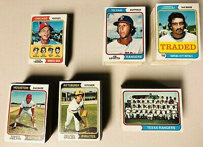 You Pick Your 1974 Topps Baseball Cards! 10 for $3.00 EX-EX MINT!!