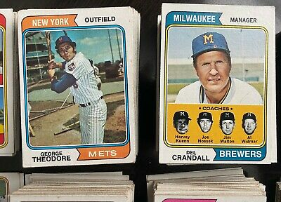 1974 Topps Baseball- You Pick- 3 for $1.00- Ex+/Nr Mint- Some Stars, Team Cards
