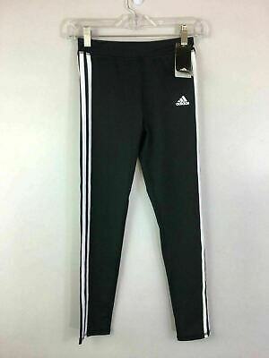 Girl's Youth Adidas Triple Striped Legging, Size M (10/12) - Black/White