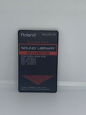 "Roland ""orchestral Winds"" Sound Library SN-U110-06 PCM Data ROM For U-110"