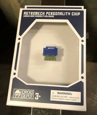 Blue Astromech Personality Chip Disneyland Galaxy's Edge Star Wars Droids