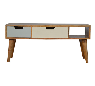 Mid Century Coffee Table Vintage Danish Cabinet Small TV Stand Solid Nordic Unit