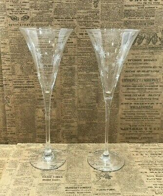Waterford Marquis Crystal Champagne Star Toasting Flutes Set of 2 Excellent
