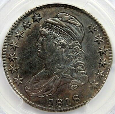 1818 50C CAPPED BUST , PCGS Genuine Damage, XF Detail