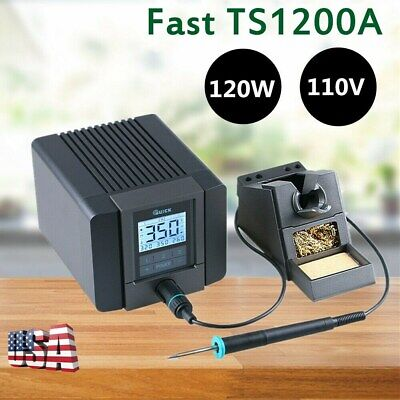Fast TS1200A 120W 110V LCD Touch Soldering Digital Display Soldering Station US