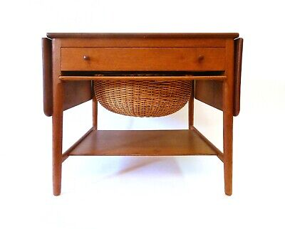 HANS WEGNER Sewing Table TEAK Andreas Tuck AT-33     [[LOCAL PICK UP ONLY]]