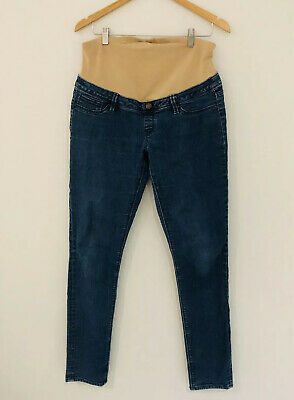JEANSWEST Skinny Maternity Jeans With Over The Belly Band Size 12