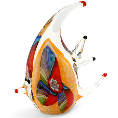 NEW Zibo Coloured Glass Reef Fish Ornament