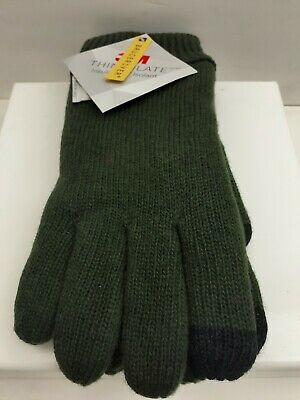 Bruceriver Men's Pure Wool Knitted Gloves with Thinsulate Large / X-Large Green