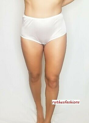 Vintage Style Full Brief Nylon Panties For Men, Ruthe's Fashions, White