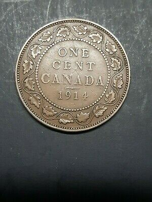 Canada  Large 1 Cent 1914