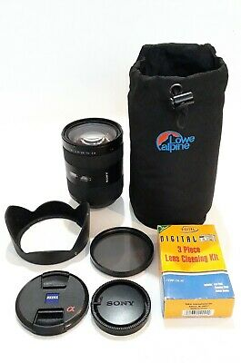 Sony 24-70mm F2.8 Carl Zeiss Vario Sonnar T* Zoom Lens. Lowepro case & accesorie