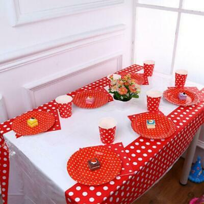 Polka Dot Plastic Table Cover Cloth Disposable Party Covers 2019HOT Tablecl J7F9