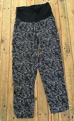 Target Collection Maternity Pants Sz 10 Black & White Pull On Pregnancy Pregnant