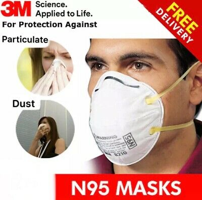 3M N95 Mask 8210 Respirator 1 PC One Single Mask Sealed Particulate Protection口罩