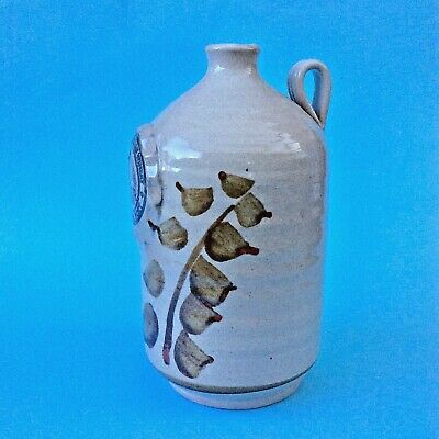 Vintage Wine Liqueur Bottle Jug Nagambie Pottery McIvor Creek Heathcote Winery