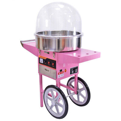 Candy Floss Machine Cart Dome Cotton Maker Commercial Party Retro Event Catering